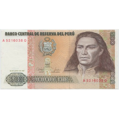 500 инти 1987 г.