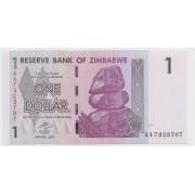 1 доллар 2007 Зимбабве