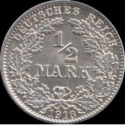 1/2 марки 1918 г. D