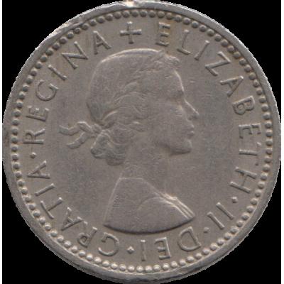 6 пенсов. 1957 г.