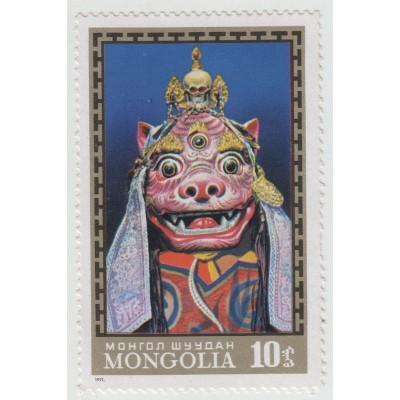 Монгольские маски Цам. 1971 г.