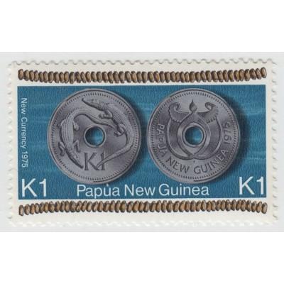 Новая монета 1 кина.  1975 г.