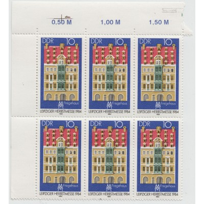 Лейпцигская ярмарка. 6 марок. 1984 г.