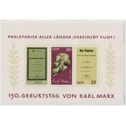 150-летие Карла Маркса. 1968 г. Блок.