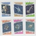 Программа Интеркосмос. 1987 г. 6 марок. Гашение.