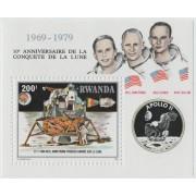 10 лет с полета Аполлон-11. 1979 г. Блок.