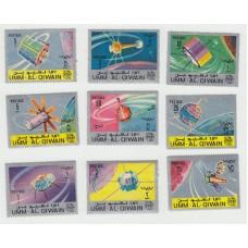 Спутники связи. 1966 г. 9 марок.
