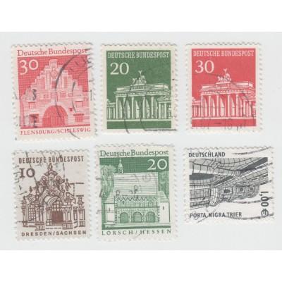 Стандарты 1964, 1966, 2002 г . 6 марок. Гашение.